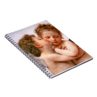 Angels First Kiss, Bouguereau Spiral Notebook