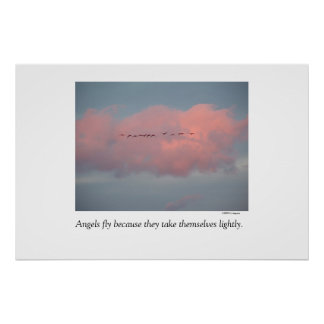 Angels fly.... Fine art photography by Kathy Augus Poster