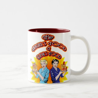 Angel's Food & Devil's Food Two-Tone Coffee Mug