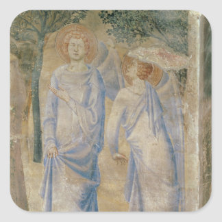 Angels from the Chapel of St. Jean, 1347 Square Sticker