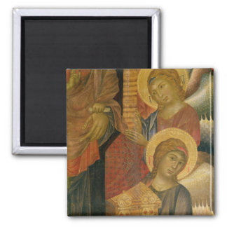 Angels from the Santa Trinita Altarpiece 2 Inch Square Magnet