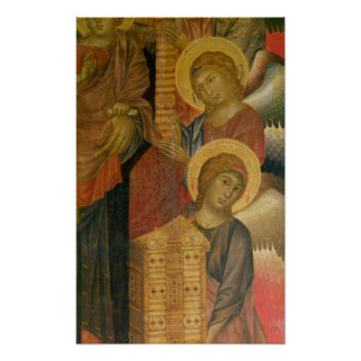 Angels from the Santa Trinita Altarpiece Poster