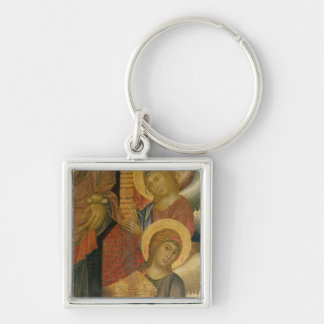 Angels from the Santa Trinita Altarpiece Silver-Colored Square Keychain