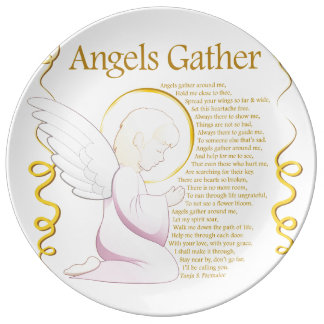 Angels Gather Poetry Collector Dinner Plate