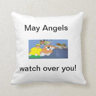 Angels, Grandpa, Kids, and Pets Pillow.