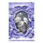 Angels Guarding Cherub, original art Customized Stationery