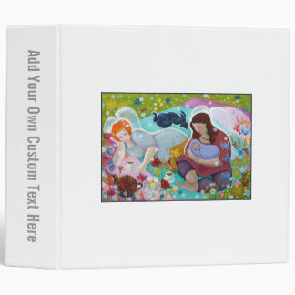 Angels Having A Cup Of Tea. 3 Ring Binder