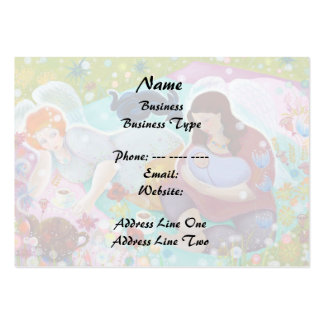 Angels Having A Cup Of Tea. Business Card Templates
