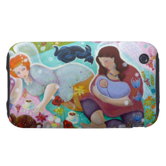 Angels Having A Cup Of Tea. Tough iPhone 3 Case