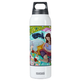 Angels Having A Cup Of Tea. Insulated Water Bottle