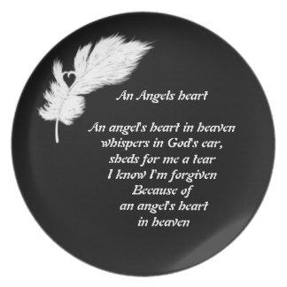 angels heart  plate