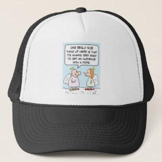 angels heaven audience pope trucker hat