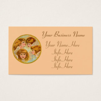 Angels In A Gold Ring Circle Business Card
