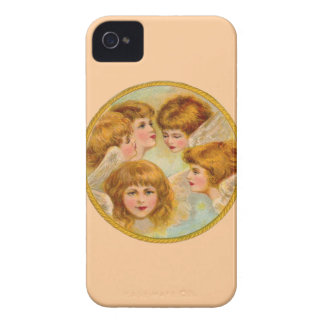 Angels In A Gold Ring Circle iPhone 4 Case-Mate Case