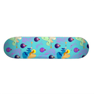 Angels in Blue – Ornaments & Trumpets Skateboard Deck