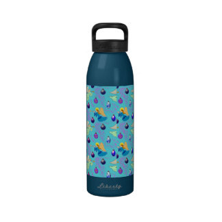 Angels in Blue – Ornaments & Trumpets Reusable Water Bottle