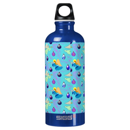 Angels in Blue – Ornaments & Trumpets Water Bottle