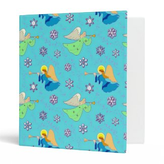 Angels in Blue – Snowflakes & Trumpets Vinyl Binder