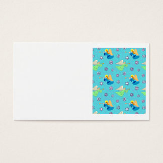 Angels in Blue – Snowflakes & Trumpets Business Card