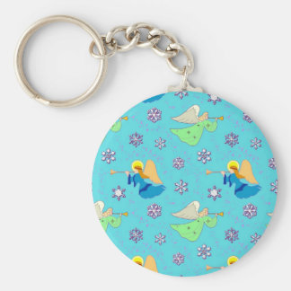 Angels in Blue – Snowflakes & Trumpets Keychain