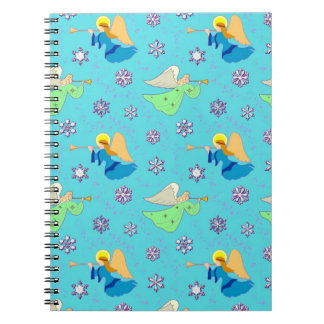 Angels in Blue – Snowflakes & Trumpets Notebooks