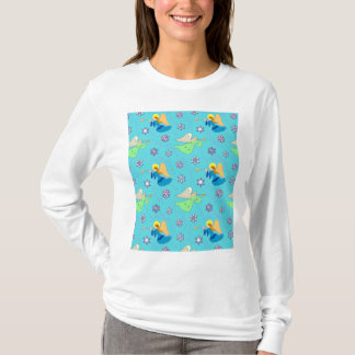 Angels in Blue – Snowflakes & Trumpets T-Shirt