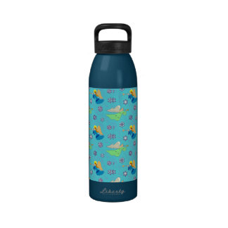 Angels in Blue – Snowflakes & Trumpets Drinking Bottle