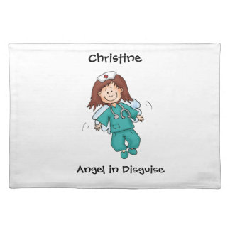 Angels in Disguise - Gift for Nurse Placemat