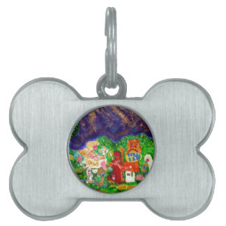Angels in the Enchanted Forest Designer Art Pet Tag
