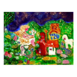 Angels in the Enchanted Forest Designer Art Post Card