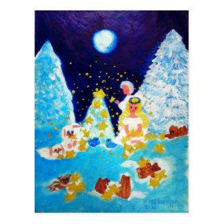 Angels in the Moonlit Forest Designer Art Postcard