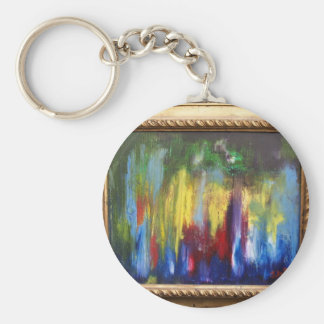 Angels in the Outfield Basic Round Button Keychain