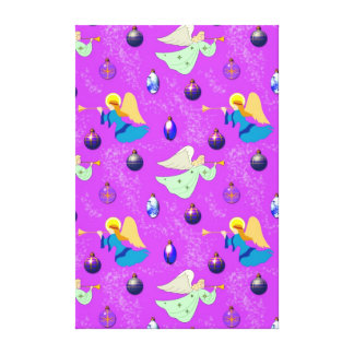 Angels in Violet – Ornaments & Trumpets Gallery Wrapped Canvas