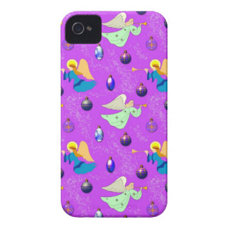 Angels in Violet – Ornaments & Trumpets iPhone 4 Case