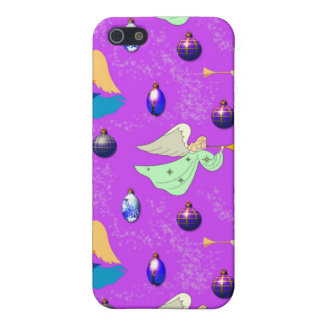Angels in Violet – Ornaments & Trumpets iPhone SE/5/5s Cover