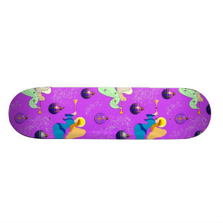 Angels in Violet – Ornaments & Trumpets Skateboard