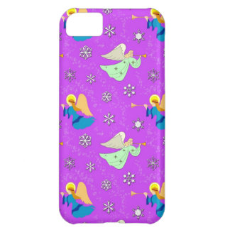 Angels in Violet - Snowflakes & Trumpets iPhone 5C Cover