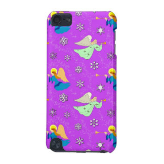 Angels in Violet - Snowflakes & Trumpets iPod Touch 5G Cover