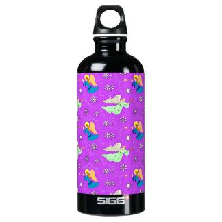 Angels in Violet - Snowflakes & Trumpets Water Bottle
