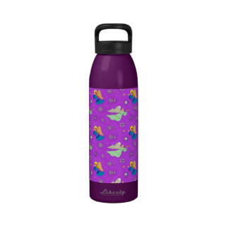 Angels in Violet - Snowflakes & Trumpets Drinking Bottle