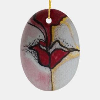 Angel's Kiss Oval Christmas Ornament