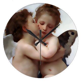 Angels Kiss Wall Clock