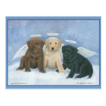 Angels Labbies Christmas Postcard