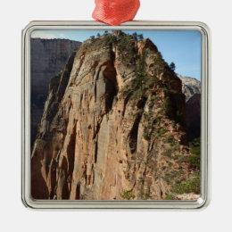 Angels Landing at Zion National Park Metal Ornament