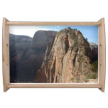 Angels Landing at Zion National Park Serving Tray