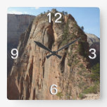 Angels Landing at Zion National Park Square Wall Clock