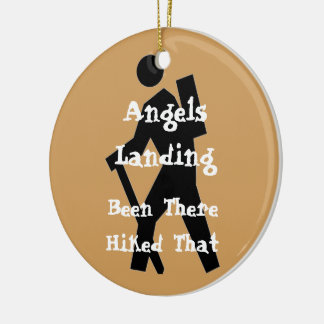 Angels Landing Ceramic Ornament
