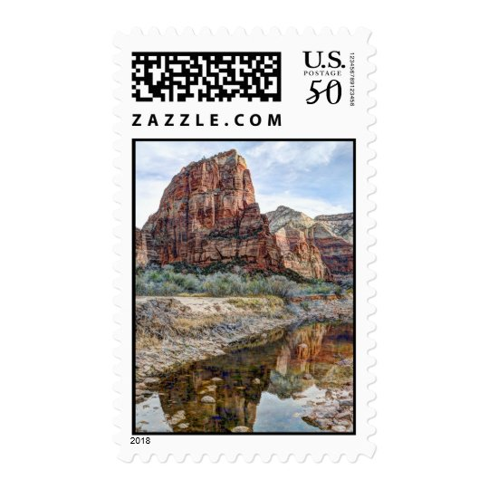 Angel's Landing Reflection - Zion National Park Postage