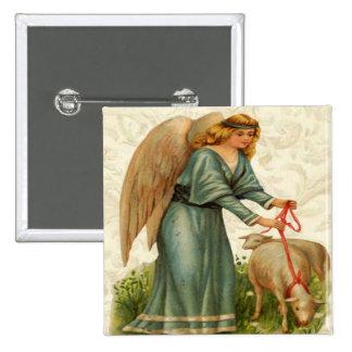 Angels Little Lamb Button