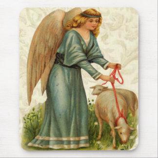 Angels Little Lamb Mouse Pad